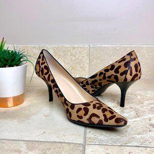 Calvin Klein Leopard Dolly Heels Pointed 3 Inch
